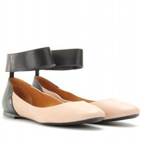 mytheresa.com -  Chloé - LEATHER BALLERINAS - Luxury Fashion for Women / Designer clothing, shoes, bags