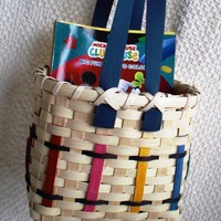 Handwoven Crayon Tote Basket for Children | Basketsbyrose - Children&#x27;s on ArtFire