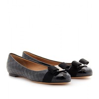 mytheresa.com -  Salvatore Ferragamo - ISEA PATENT LEATHER BALLERINAS  - Luxury Fashion for Women / Designer clothing, shoes, bags
