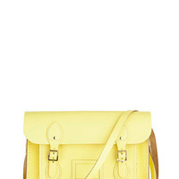 Cambridge Satchel Upwardly Mobile Satchel in Lemon - 13"