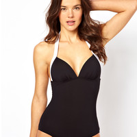 Esprit Contrast Padded Swimsuit