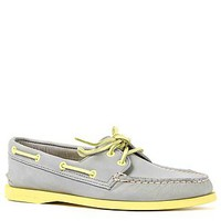 Sperry Topsider Shoe AO 2 Eye in Grey and Yellow