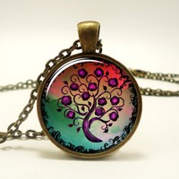 Tree Of Life Pendant, Woodland Jewelry (0626B1IN) | CellsDividing - Jewelry on ArtFire