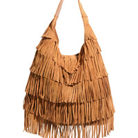 ASOS Leather Fringe Hobo Bag