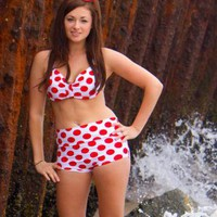 New Minnie Mouse bikini xsXL made to order by meshalo on Zibbet