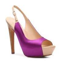 Shop  Giuseppe Zanotti Satin Slingback Pump Larger View