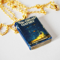 the great gatsby&#x27;s  mini book necklace