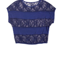 dELiAs > Lace Stripe Dolman > just in > tops