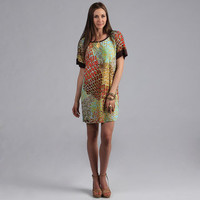 24/7 Comfort Apparel Women's Printed Dolman Sleeve Dress | Overstock.com