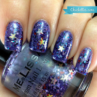 Struck Upon a Star - Gatsby Custom Glitter Nail Polish / Lacquer Full Size 15 ml / 0.5 oz Bottle