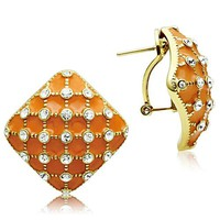 Ion Gold Plated Crystal Stud Earrings - 06610