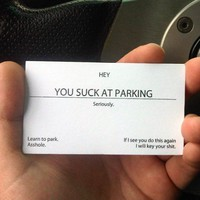 You Suck At Parking Cards - $18