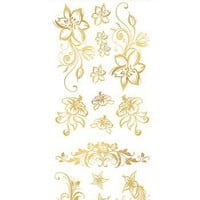 Gold Body Art 'Floral' Temporary Tattoos | Nordstrom