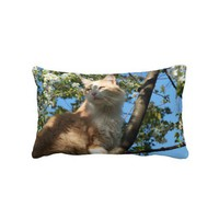 Sahara Cat In A  Tree Throw Pillow from Zazzle.com