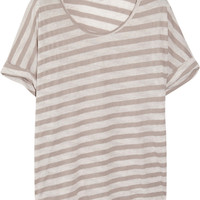CLU Striped jersey T-shirt – 65% at THE OUTNET.COM