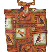 Knitting Bag with Garden Birds
