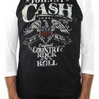 Johnny Cash, Baseball Jersey Shirt, Rock N Roll
