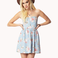 Sweetheart Floral Chambray Dress | FOREVER 21 - 2058114451