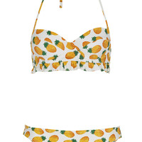 White Pineapple Bikini - Swimwear - Clothing - Topshop USA