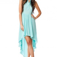 Cross The Back Dress in Mint - ShopSosie.com