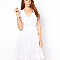 French Connection Embroidered Skater Dress at asos.com