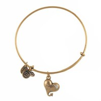 Alex and Ani Cupid's Heart Charm Bangle - Russian Gold