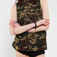 OBEY Kegan Sleeveless Camo Button-Down Shirt