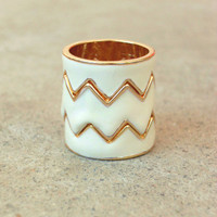 Still Valley Zig Zag Ring [3407] - $16.00 : Vintage Inspired Clothing &amp; Affordable Summer Frocks, deloom | Modern. Vintage. Crafted.