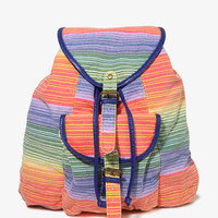 Colorblocked Striped Backpack