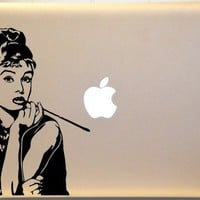 Audrey Hepburn Macbook Laptop Vinyl Decal Sticker iPad Macbook Pro