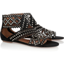 Alaa|Studded cutout suede sandals|NET-A-PORTER.COM
