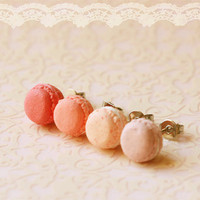 Food Earrings - Macaron Earrings In Dusty Pink Series | Luulla