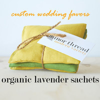 20 Wedding Favors Organic Lavender Sachets Custom Bulk Order Made to Order
