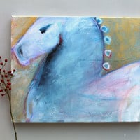 "Animal Painting Acrylic Painting Horse ""The Lipizzaner"""