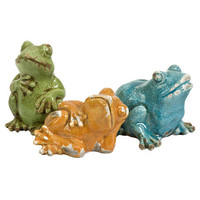 3 Piece Garza Frogs Statue Set