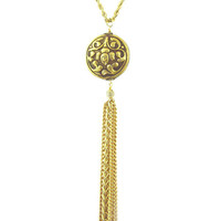 Handmade Tibetan Pendant Tassel Necklace