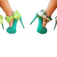 Green Reversible Heel Condom