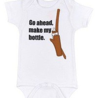 Make My Bottle Baby Bodysuit by Sara Kety - 0-6 or 6-12 Months - Whimsical &amp; Unique Gift Ideas for the Coolest Gift Givers