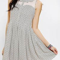 Ladakh Cookie Chiffon Inset Pleated Shirtdress