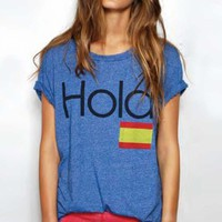 Rebel Yell Hola Crew Neck in Royal