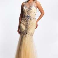 Dave & Johnny 8040 Nude Mermaid Dress