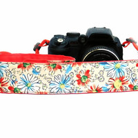 dSLR Camera Strap.Floral Camera Strap. Summer Accessories.  Women Accessories