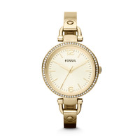 ES3227 - Georgia Glitz Three Hand Stainless Steel Watch – Gold-Tone