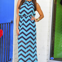 Sounds Like A Memory Maxi Dress: Teal | Hope's