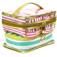 Trina The Right Stripe 4 Pc Fitted Traincase Ulta.com - Cosmetics, Fragrance, Salon and Beauty Gifts