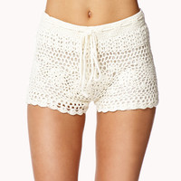 Drawstring Macram Shorts | FOREVER21 - 2037408555