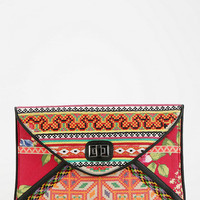 Urban Outfitters - Ecote Mixed Print Embroidered Envelope Clutch