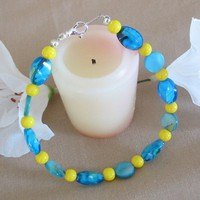 Turquoise Mother of Pearl Bracelet | pattysdreamdesigns - Jewelry on ArtFire