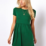ASOS Smock Dress With Short Sleeves at asos.com