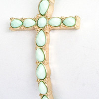 Purely a Beaded Cross Bracelet